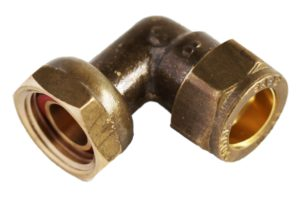 COMPRESSION SWIVEL ELBOW 90 DEG CXFI 15MM